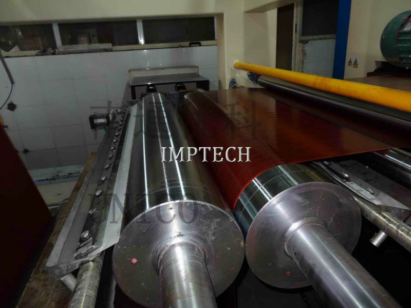 Impregnation line for HPL making