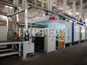 Two step melamine decor paper impregnation line